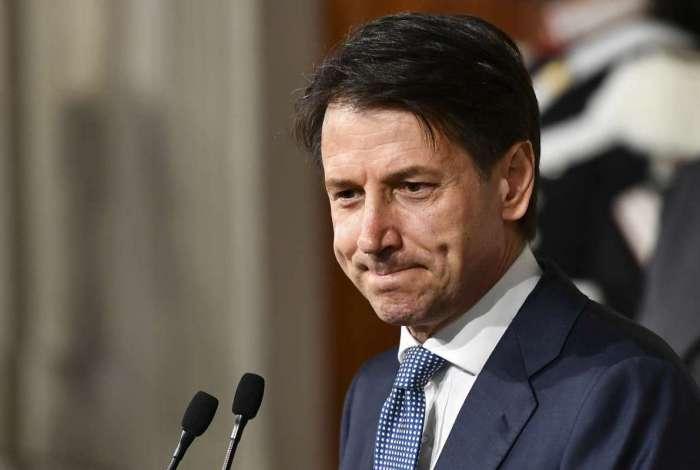 Giuseppe Conte: imagem arranhada por denúncias de fraudes no currículo