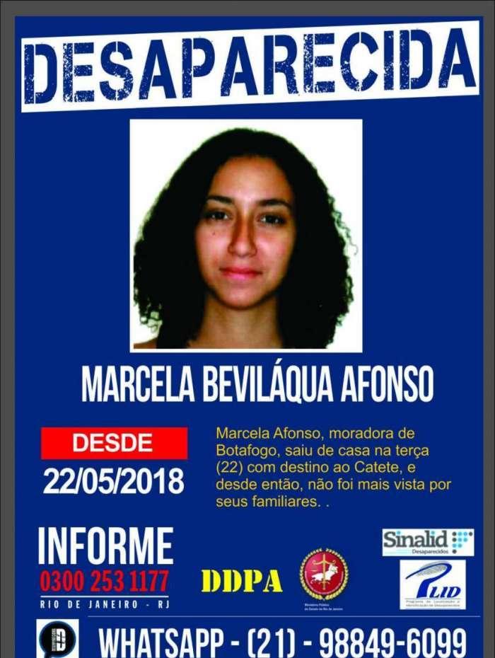 Marcela Bevil�qua desapareceu nesta ter�a-feira no Catete