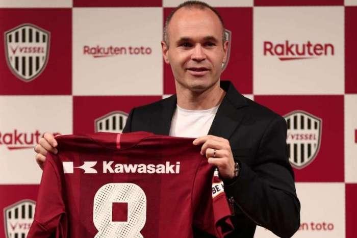 Iniesta vestirá no Vissel Kobe a mesma camisa 8 que usou no Barça