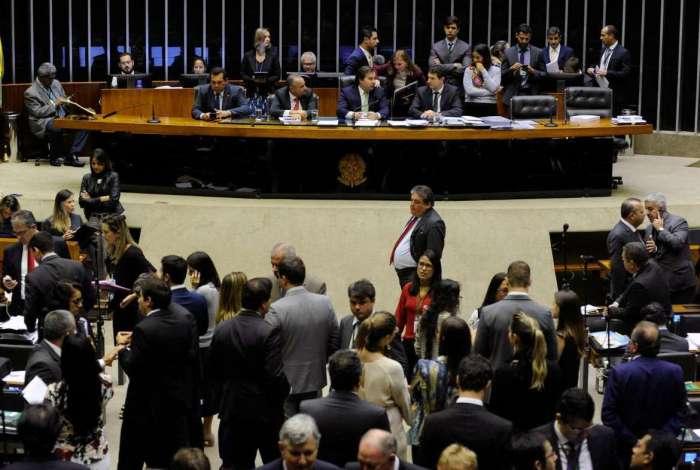 Sessão na Câmara dos Deputados