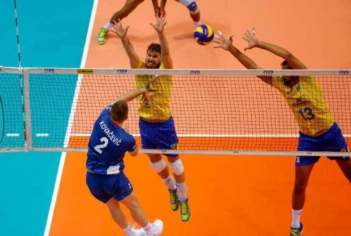 Brasil superou a S�rvia por 3 a 0