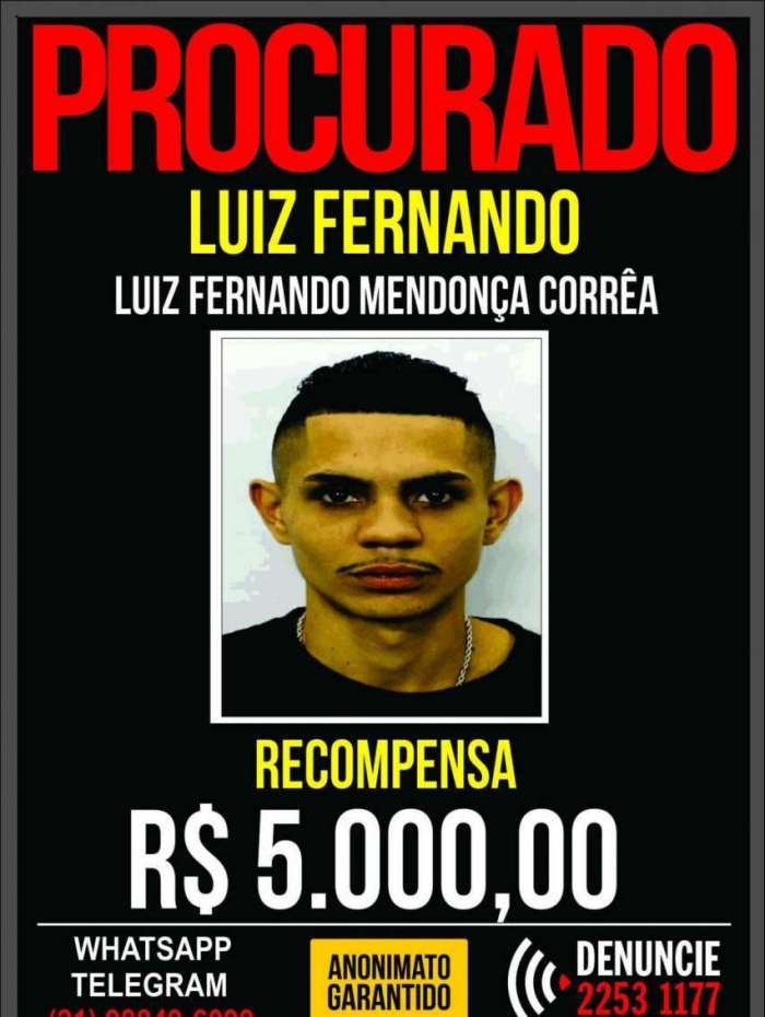 Luiz Fernando é suspeito de participar de morte de PM em Vila Isabel