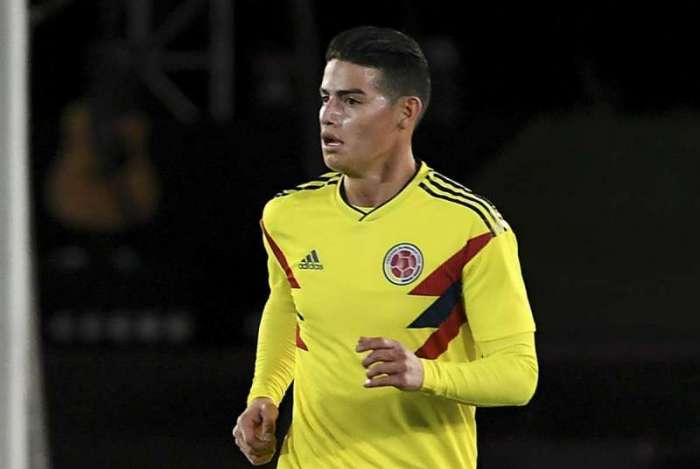 James Rodriguez, jogador da sele��o da Col�mbia