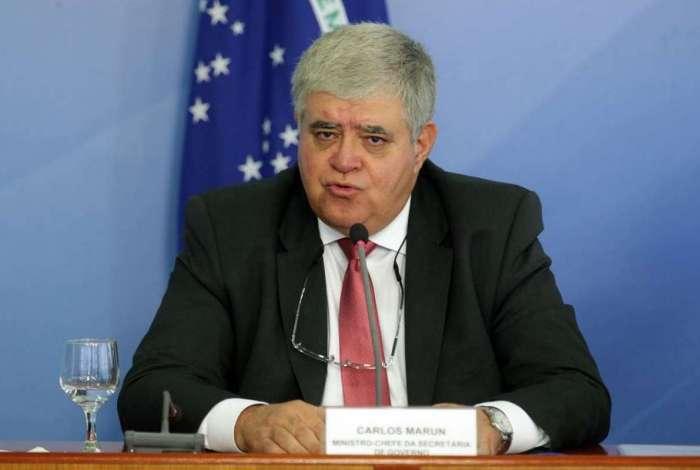 O ministro da Secretaria de Governo da Presidência da República, Carlos Marun