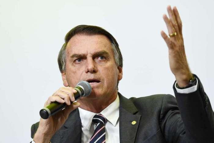 Jair Bolsonaro (PSL), candidato à Presidência