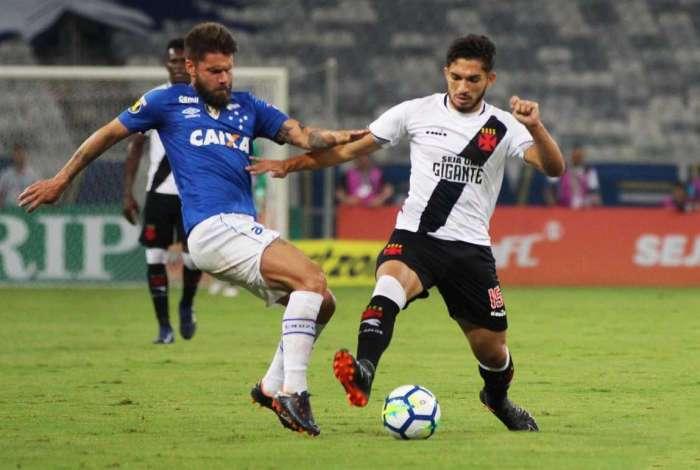 Vasco e Cruzeiro empataram por 1 a 1