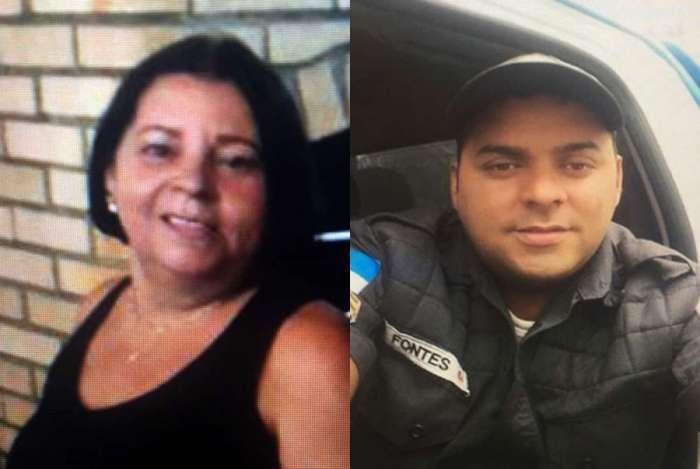 Maria José Fontes, de 56 anos, infartou e morreu ao ver o filho, o sargento da PM Douglas Fontes Caluete, de 35 anos, na cena do crime onde foi assassinado por bandidos em Gramacho