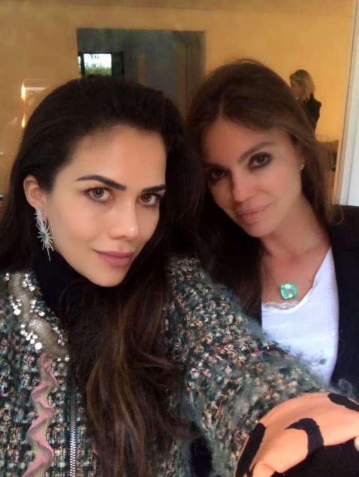 Daniela Albuquerque e Simone Abdelnur em um ch� da tarde, em S�o Paulo