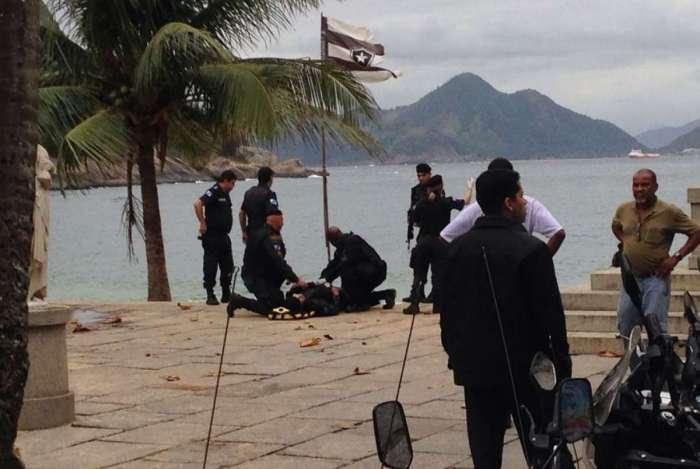 Policial foi baleado na Urca
