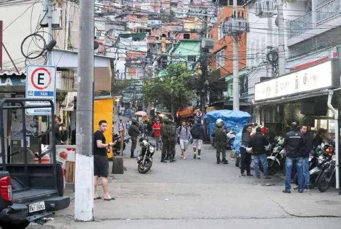 Favela da Rocinha, na Zona Sul do Rio