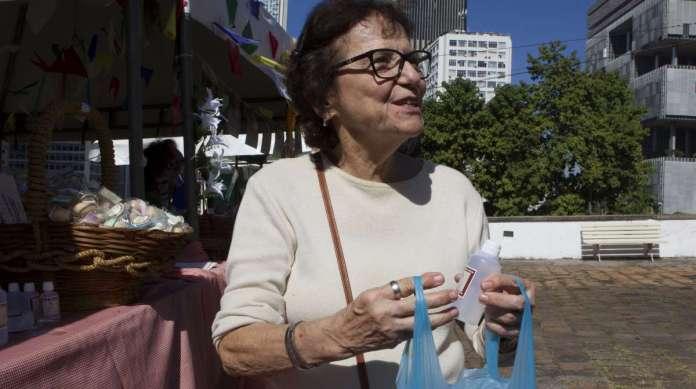 Vilma Ricci foi ao Convento Santo Antônio pegar o pão bento