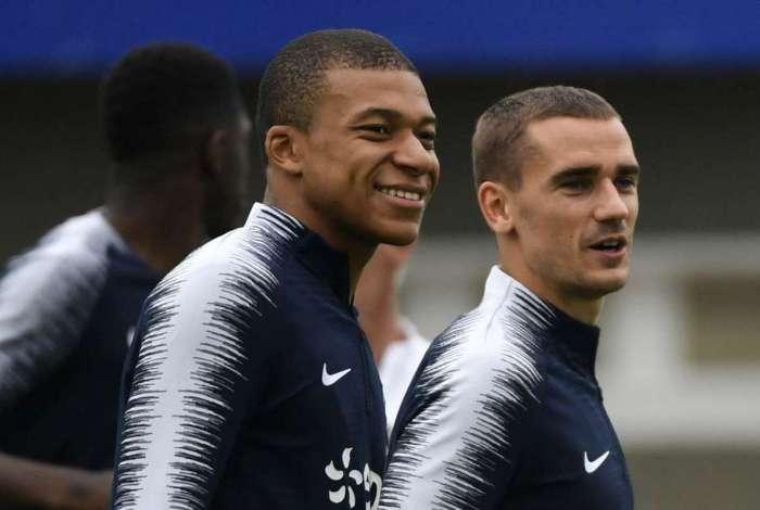 Mbapp� e Griezman lideram nova gera��o do futebol franc�s