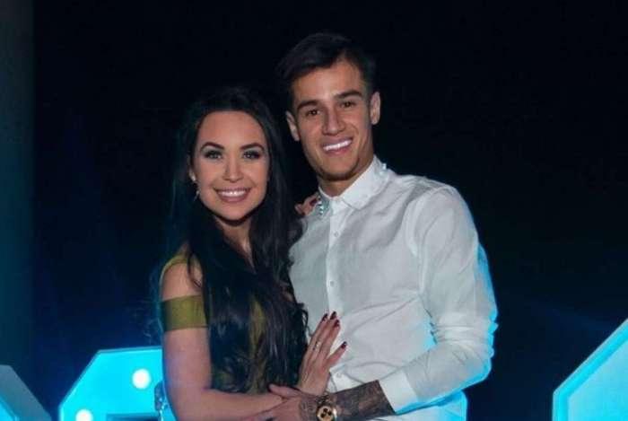 Philippe Coutinho e a namorada