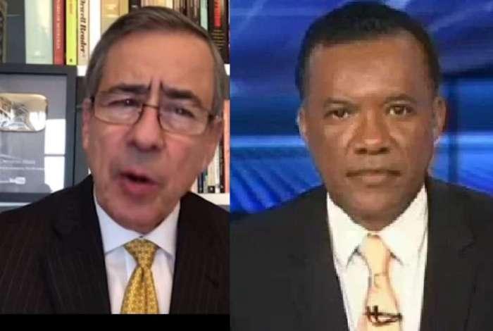 Os jornalistas Paulo Henrique Amorim e Heraldo Pereira