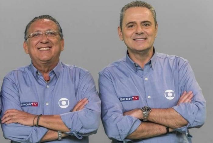 Cleber Machado (E), Galvão Bueno e Luis Roberto: estrelas da Globo