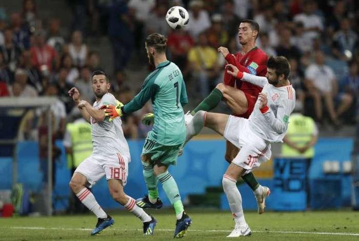 Portugal e Espanha empataram por 3 a 3