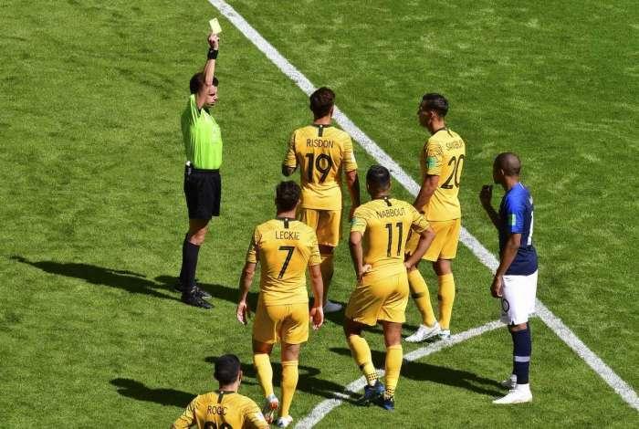 Seleção australiana na estreia da Copa do Mundo