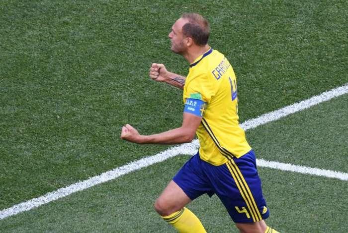 Gol da Su�cia marcado por Granqvist