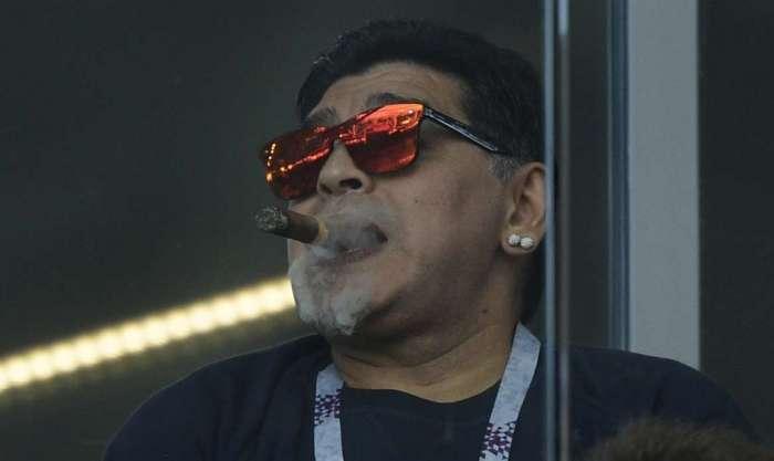 Maradona homenageou Maduro e criticou Trump