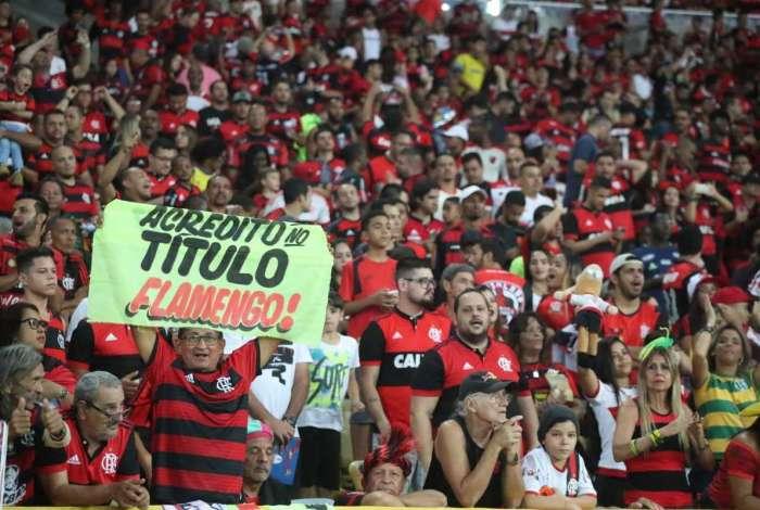 Torcida do Flamengo tem sido fundamental para o time nos jogos do Brasileir�o no Maracan�