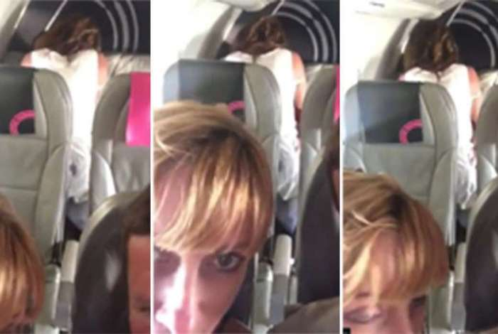 Casal faz sexo em avião