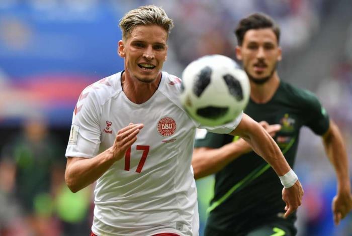 Em jogo da segunda rodada do Grupo C, Dinamarca e Austr�lia se enfrentaram em Samara
