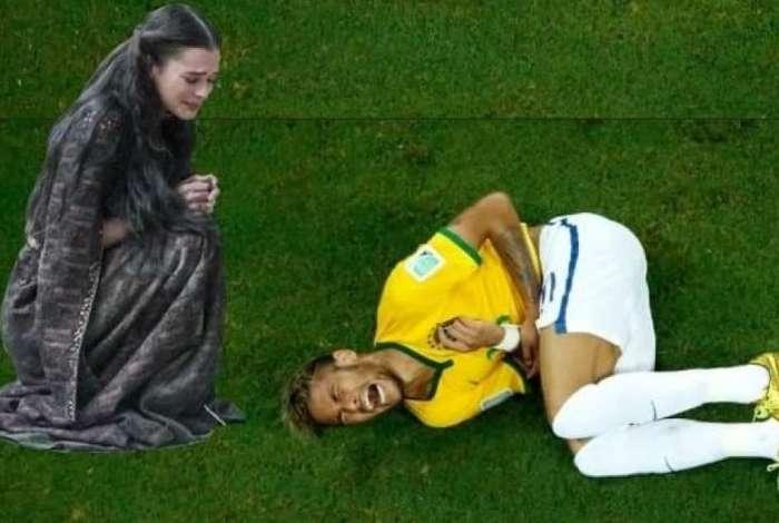 Quedas de Neymar foram ironizadas