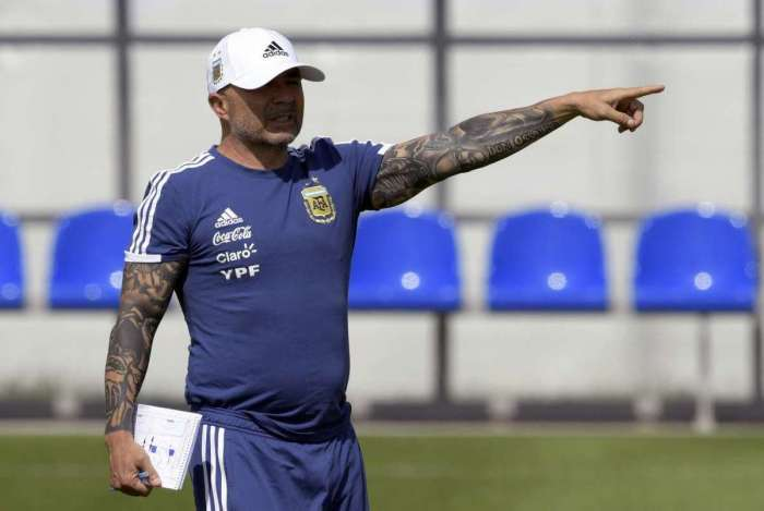 Sampaoli comanda treino da Argentina