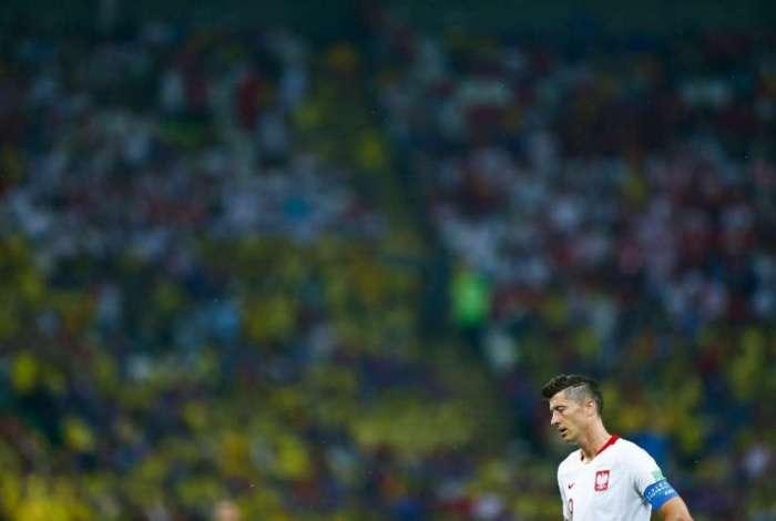 Robert Lewandowski n�o conseguiu ajudar a Pol�nia a se classificar