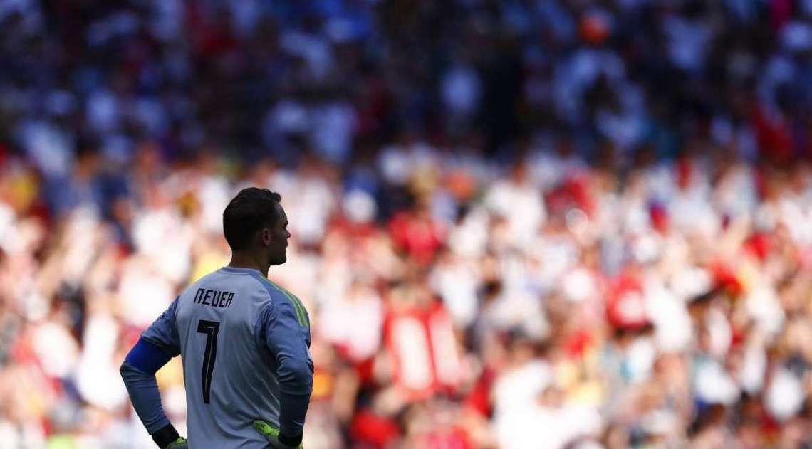 Neuer desolado ap�s derrota da Alemanha