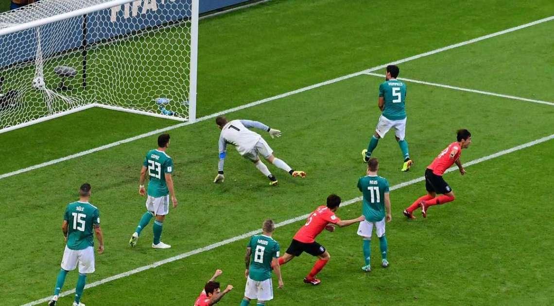 Coreia do Sul abre o placar sobre a Alemanha
