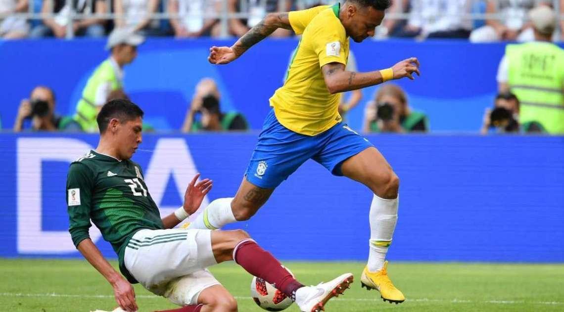 Brasil e México se enfrentaram em Samara pelas oitavas de final da Copa do Mundo