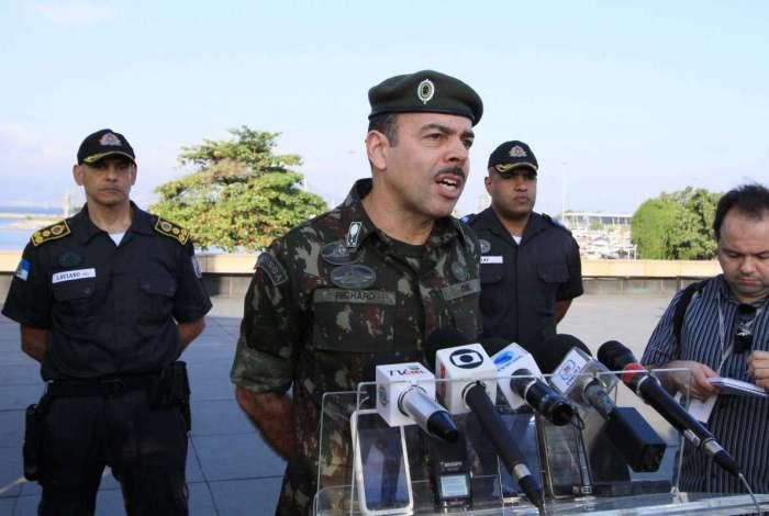 Secretário de Segurança do Rio, general Richard Nunes