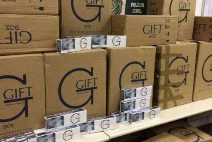 A marca Gift é contrabandeada do Paraguai para o Brasil
