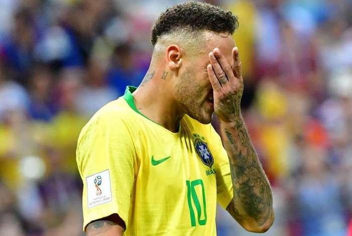 Neymar é atacante da seleção brasileira