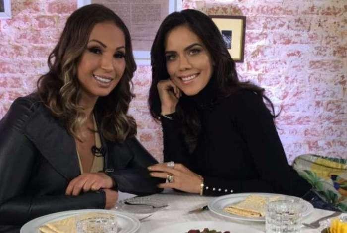 Valesca Popozuda e Daniela Albuquerque no 'Sensacional'