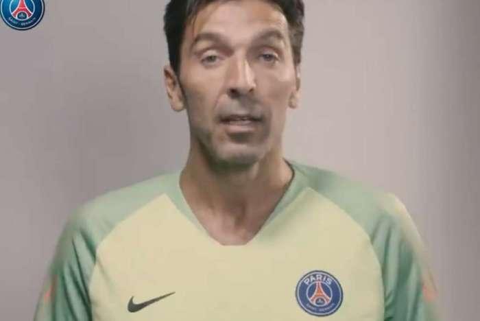 Buffon foi anunciado pelo PSG