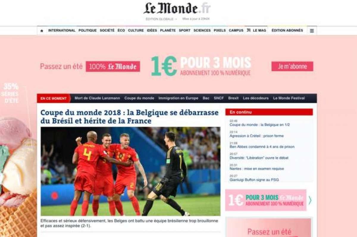 Imprensa internacional destaca a eliminação da seleção brasileira O ... 287a293048949