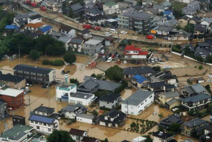 Japão: enchentes matam mais de 30 pessoas após fortes chuvas