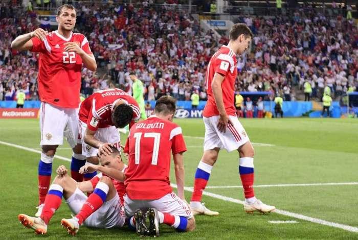 Rússia foi até as quartas de final da Copa do Mundo de 2018