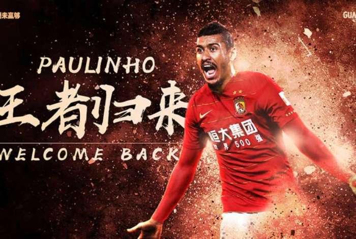 Paulinho volta para o futebol chinês