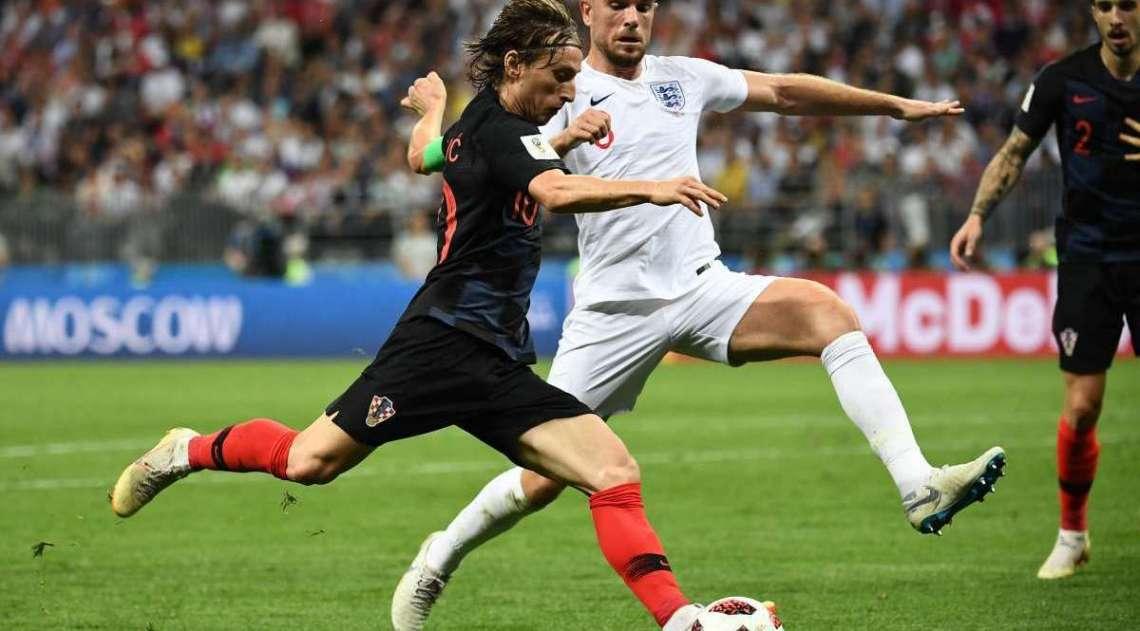 Confira as imagens da partida entre Croácia e Inglaterra