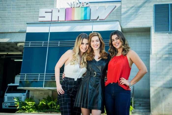 Fernanda Keulla, Sophia Abrahão e Vivian Amorim, as apresentadoras do 'Vídeo Show'