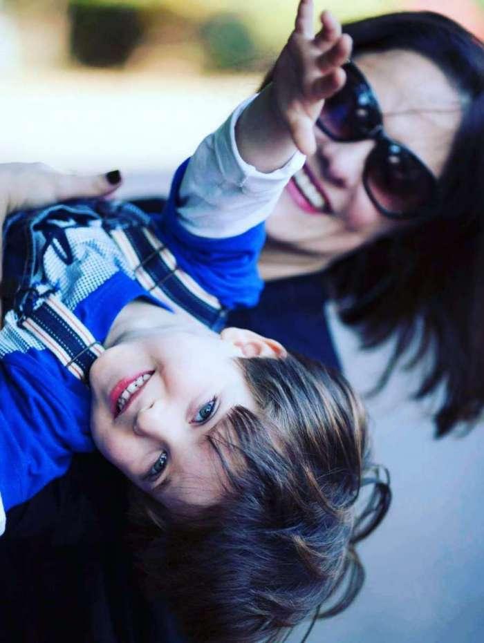 Dani Talamoni e o filho Enzo