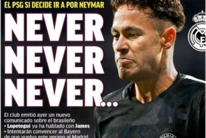 Jornal 'Marca' estampou manchete forte sobre Neymar