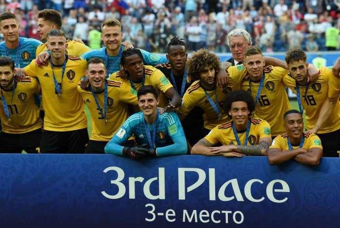 Seleção belga alcança terceiro lugar inédito na Copa do Mundo