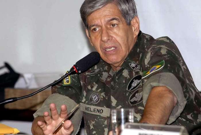 General Augusto Heleno: ex-chefe da missão brasileira no Haiti