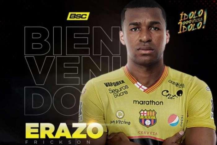 Erazo acertou com o Barcelona de Guayaquil