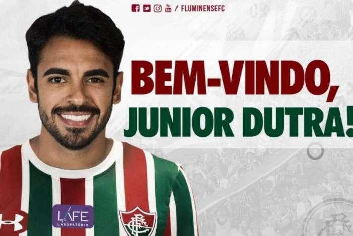 742c15ade4 Fluminense anuncia de forma oficial a contratação do atacante Júnior ...