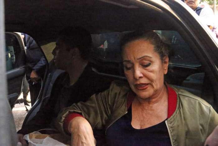 Maria de Fátima, mãe de Denis, quando foi presa com o filho, no dia 20 de julho